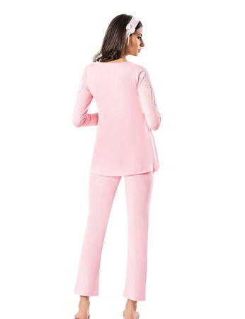 Şahinler - Şahinler Maternity Pajama Set & Slipper Gift Pink MBP23726-1 (1)