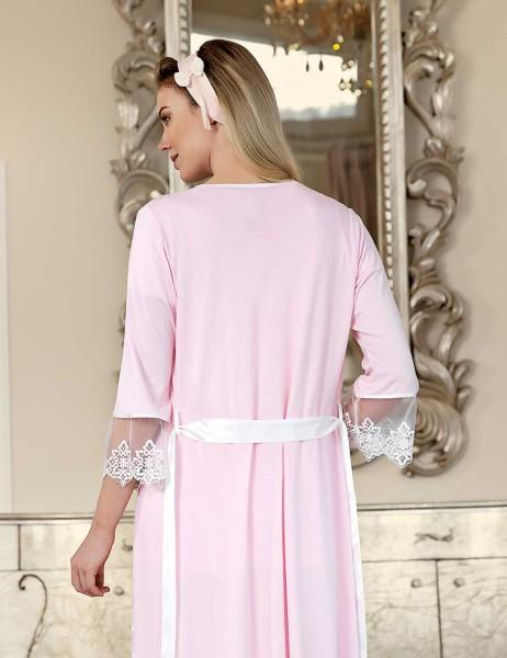 Şahinler - Şahinler Maternity Sleep Wear with Slipper Gift Pink MBP23410-1 (1)
