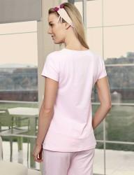 Şahinler - Şahinler Maternity Sleepwear Set with Slipper Gift Powder MBP23415-1 (1)