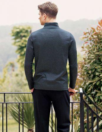 Şahinler - Sahinler Men Collar Pajama Set Dark Grey MEP23219-1 (1)