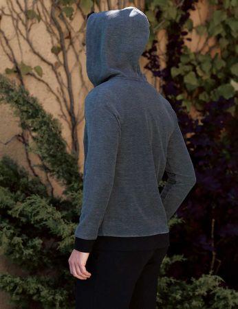 Şahinler - Şahinler Men Hood Pajama Set Dark Grey MEP23816-1 (1)