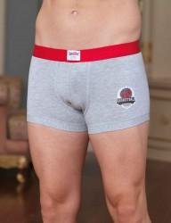 Şahinler - Sahinler Men Lycra Boxer Basketball Printed Grey Melange ME108