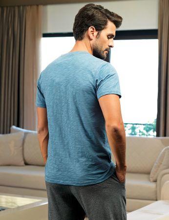 Şahinler - Şahinler Men Pajama Set Blue MEP24225-1 (1)