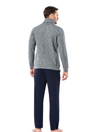 Şahinler - Şahinler Men Pajama Set Grey MEP23206-1 (1)