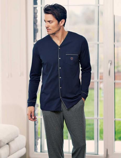Şahinler - Şahinler Men Pajama Set Khaki MEP23532-3