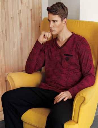 Sahinler Men Pajama Set MEP24513-1 - Thumbnail