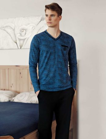 Şahinler - Sahinler Men Pajama Set MEP24513-2