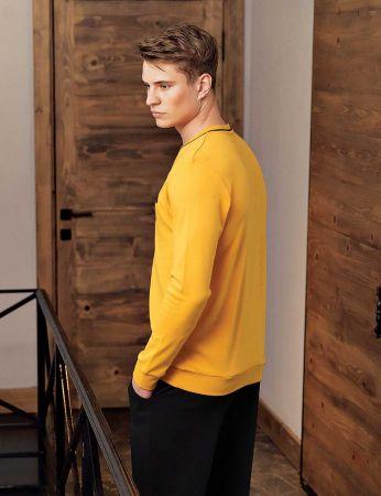Şahinler - Şahinler Men Pajama Set Mustard MEP23807-3 (1)