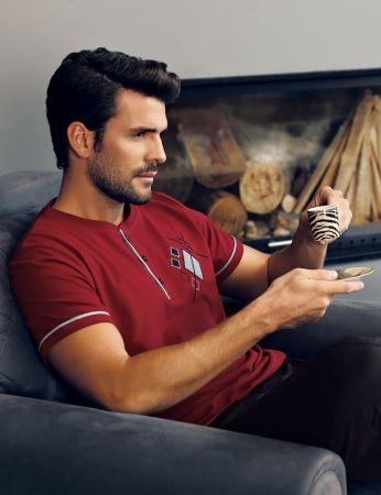 Şahinler - Şahinler Men Pajama Set Red MEP24219-2