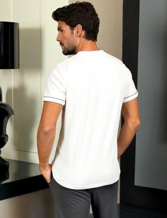 Şahinler - Şahinler Men Pajama Set White MEP24219-1 (1)