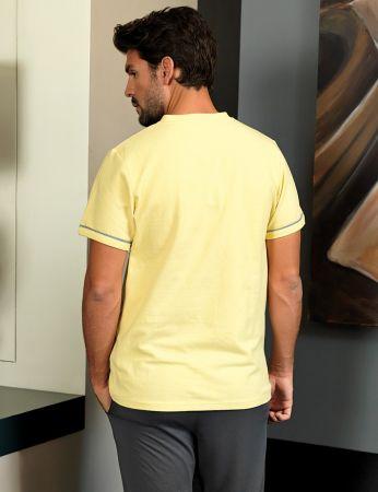 Şahinler - Şahinler Men Pajama Set Yellow MEP24219-3 (1)
