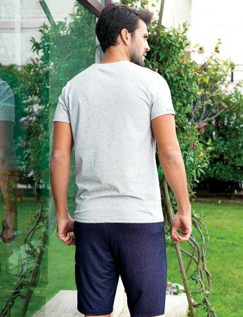 Şahinler - Şahinler Men Short Set Grey MEP24208-1 (1)