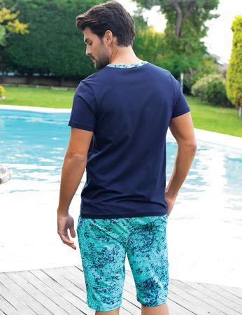 Şahinler - Şahinler Men Short Set Navy Blue MEP24202-1 (1)