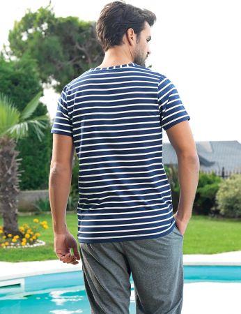 Şahinler - Şahinler Men Striped Capri Set MEP24226-2 (1)