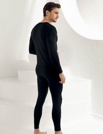Şahinler - Sahinler Men Thermal Underwear Long Black ME092 (1)