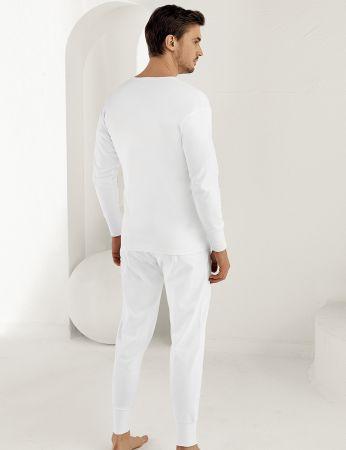 Şahinler - Sahinler Men Underwear Long Cuff White ME017 (1)