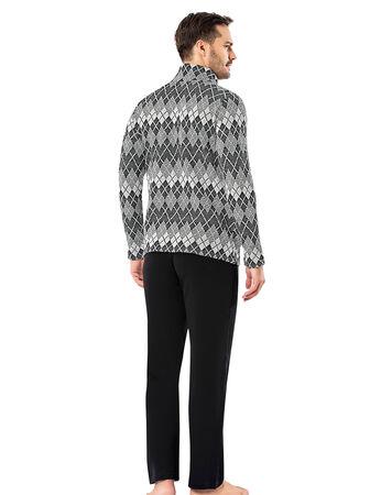 Sahinler Men Zip Pajama Set Pattern MEP23204-1