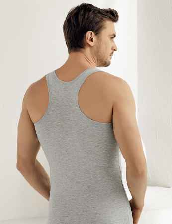 Şahinler - Sahinler Muskelshirt mit breiten Trägern grau ME029 (1)