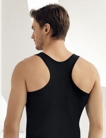 Sahinler Muskelshirt mit breiten Trägern schwarz ME029