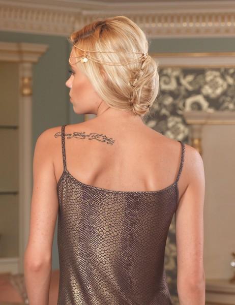Şahinler - Sahinler Nightgown & Brief Set Brown MB2010 (1)