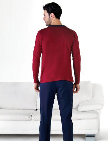Şahinler - Şahinler Önden Düğmeli Erkek Pijama Takımı MEP24714-1 (1)