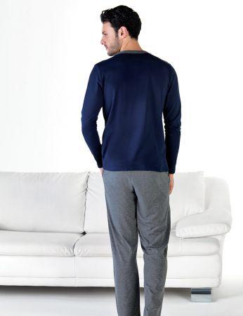 Şahinler - Şahinler Önden Düğmeli Erkek Pijama Takımı MEP24714-2 (1)