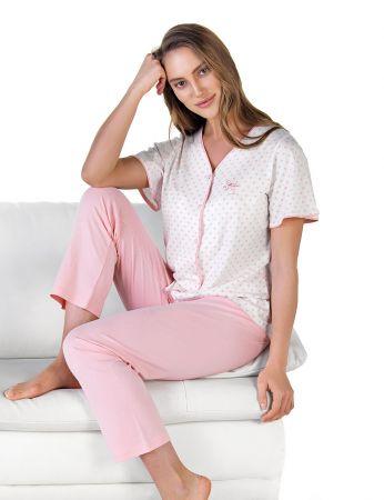 Şahinler - Şahinler Önden Düğmeli Kadın Pijama MBP24601-1