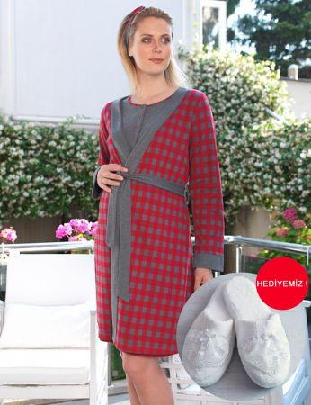 Şahinler - MBP22438-1 طقم قميص نوم وروب للحامل