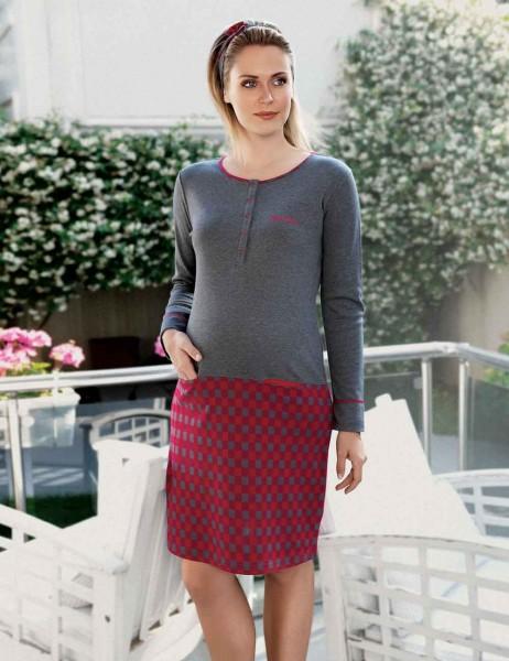 Şahinler - MBP22438-1 طقم قميص نوم وروب للحامل (1)
