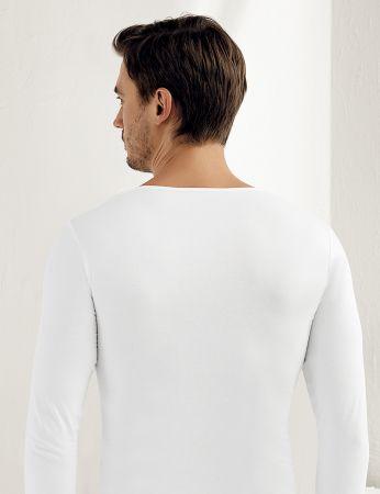 Sahinler Supreme Lycra Unterhemd mit langen Ärmeln weiß ME070