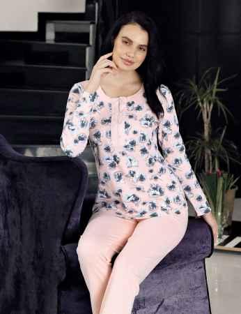 Şahinler - Şahinler Pijama Takımı Desenli MBP23714-1