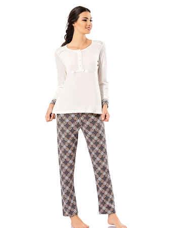 Şahinler Pijama Takımı Desenli MBP23720-1 - Thumbnail