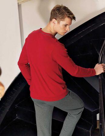 Şahinler - Şahinler Pijama Takımı Koyu Kırmızı MEP23807-2 (1)