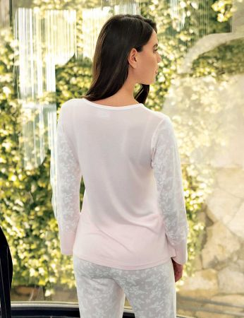 Şahinler - Şahinler Print Women Pajama Set Pink MBP23719-1 (1)