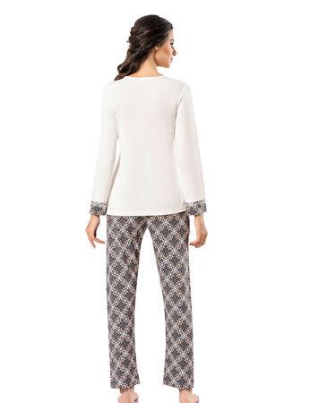Şahinler - Şahinler Print Women Pattern Pajama Set MBP23720-1 (1)