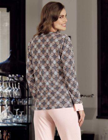 Şahinler - Şahinler Print Women Pattern Pajama Set MBP23721-1 (1)