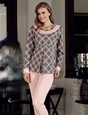 Şahinler - Şahinler Print Women Pattern Pajama Set MBP23721-1