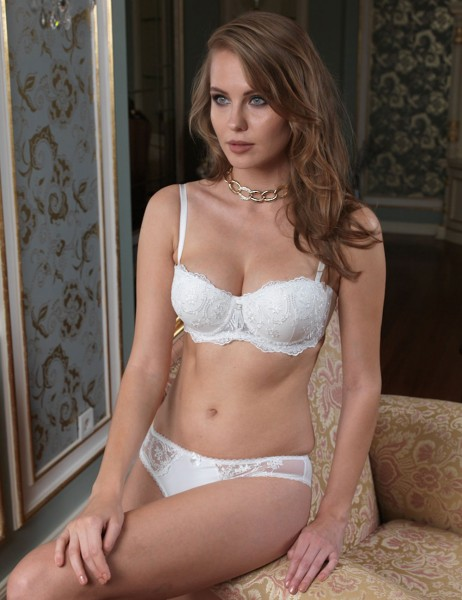Şahinler - Sahinler Push-up Bra & Brief Set Ecru M10100-D
