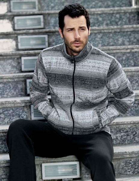 Sahinler Pyjama mit Reißverschluss-Jacke MEP22501-1