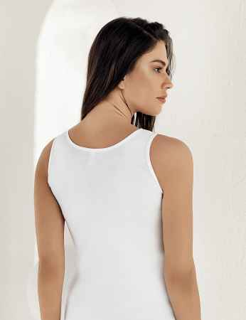 Şahinler - Sahinler Rib Camisole Wide Strap White MB004 (1)