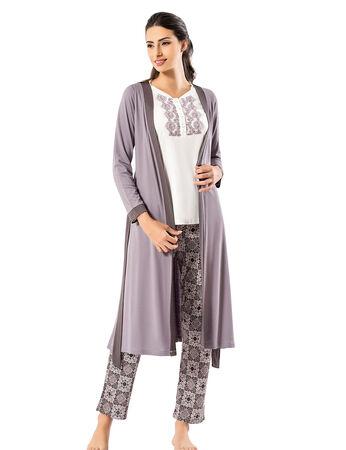 Şahinler - Şahinler Sabahlıklı Bayan Pijama Takımı MBP24406-1