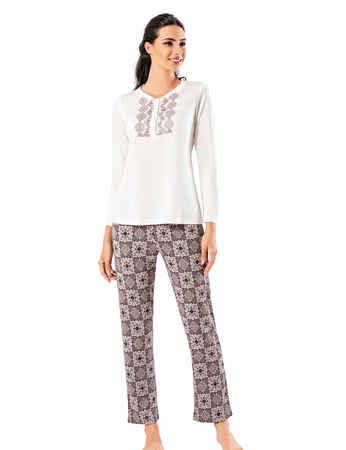 Şahinler Sabahlıklı Bayan Pijama Takımı MBP24406-1 - Thumbnail