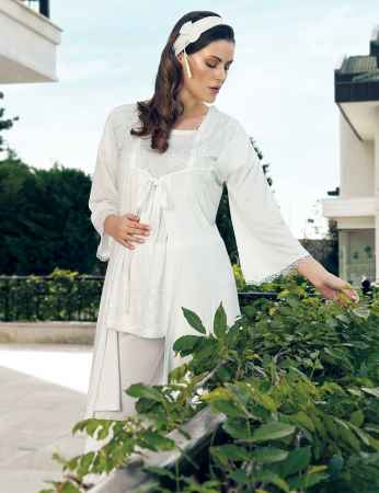 Şahinler - Şahinler Sabahlıklı Lohusa Pijama Takımı MBP24127-1