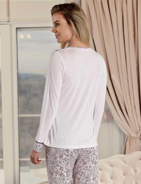 Şahinler - Şahinler Sal Desenli Kadın Pijama Takımı MBP23424-1 (1)