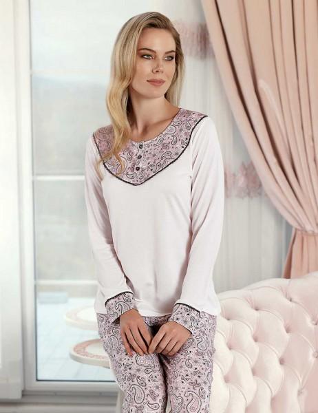 Şahinler - Şahinler Sal Desenli Kadın Pijama Takımı MBP23424-1