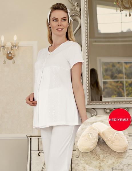Şahinler - Şahinler Schlafanzug für Schwangere MBP23411-1