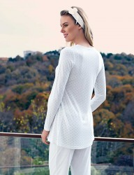 Şahinler Schlafanzug für Schwangere MBP23414-2 - Thumbnail