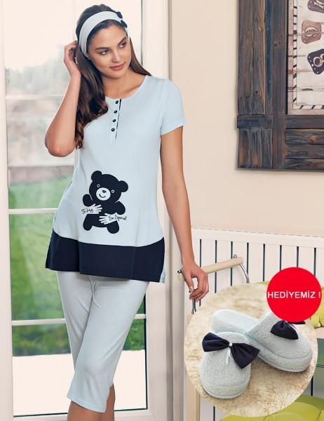 Şahinler - Şahinler Schlafanzug für Schwangere MBP23415-2