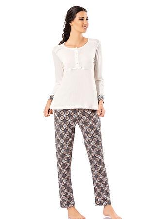 Şahinler - Şahinler Schlafanzug Set für Damen MBP23720-1