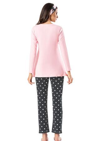 Şahinler - Şahinler Schlafanzug Set für Schwangere mit Hausschuhe Geschenk MBP23724-1 (1)